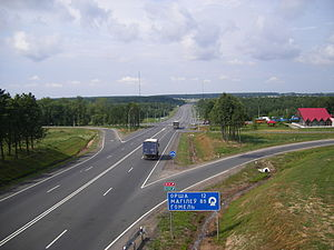 M1 highway (Belarus) - The M1 near Orsha