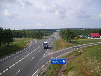M1 highway (Belarus) - The M1 near Orsha