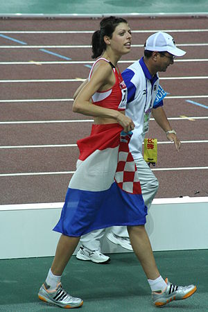 Blanka Vlašić - Vlašić quickly became Croatia's top female high jump athlete.