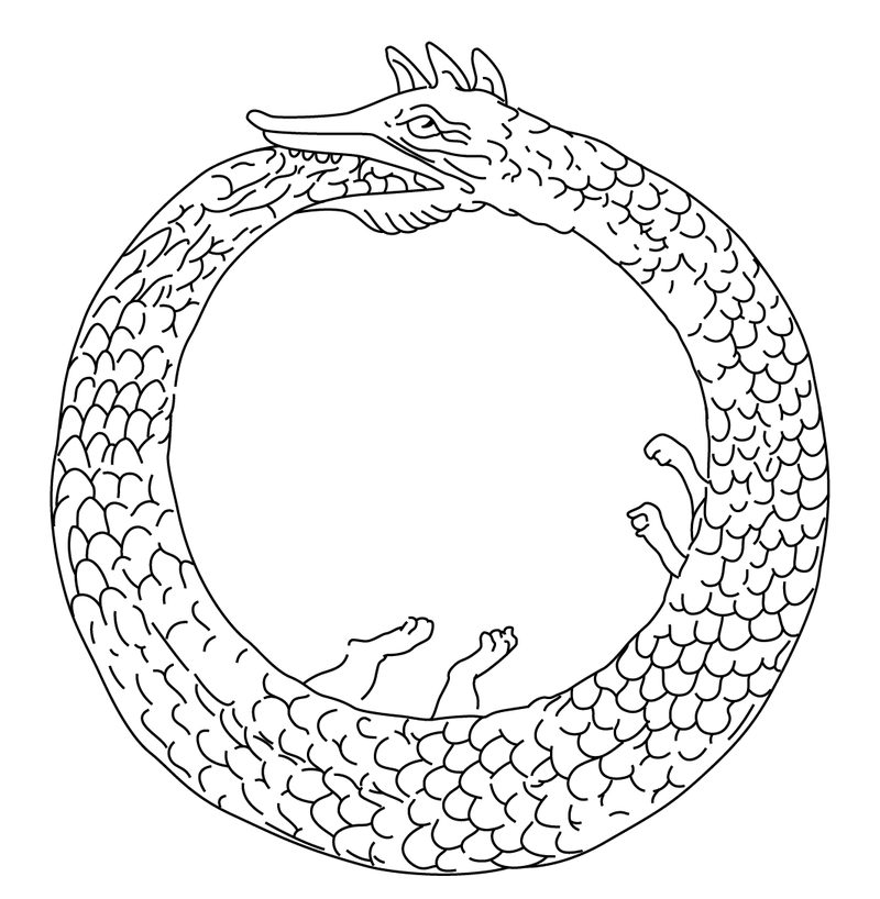 public domain image of ouroboros