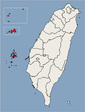 Location of Penghu, Kinmen, Lienchiang Counties