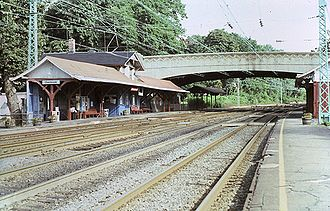 Overbrook station - Overbrook station in 1984