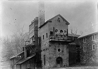Oxford Furnace, New Jersey - Oxford Furnace as it appeared in the late 1800s.