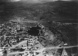 Masyaf - The fortress and town of Masyaf, c. 1935