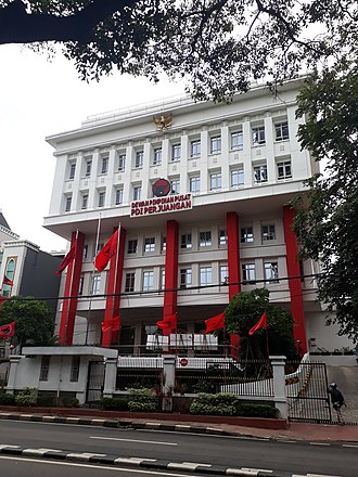Indonesian Democratic Party of Struggle - Party head office on Jalan Diponegoro, Menteng, Jakarta