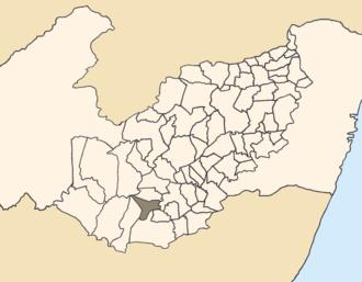 Saloá - Location of Saloá within Pernambuco.