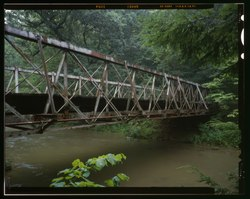 The Falling Rock Camp Bridge over Rocky Fork Creek