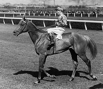 Melbourne Cup - Peter Pan ridden by jockey Darby Munro, won in 1932 and 1934