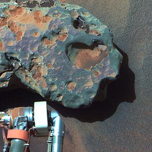 Oileán Ruaidh (Mars rock) - A close-up of the meteorite (September 24, 2010).