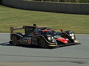 Neel Jani - Jani competing in a Lola B12/60 at the 2012 Petit Le Mans.