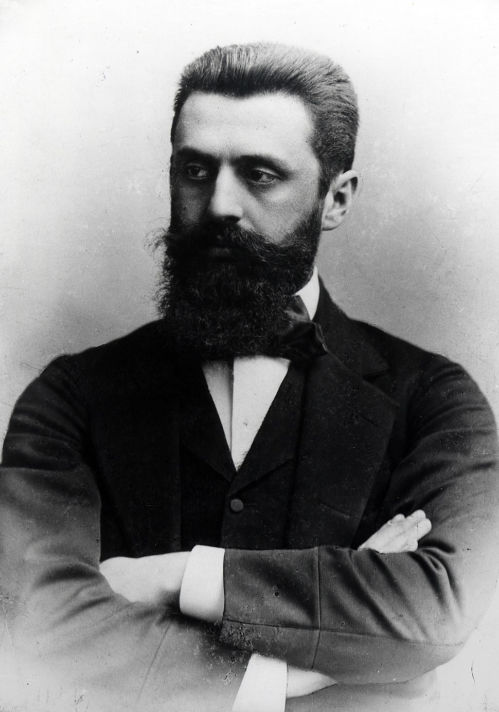 PORTRAIT OF THEODOR HERZL IN 1898. פורטרט של תיאודור הרצל - 1898D443-015