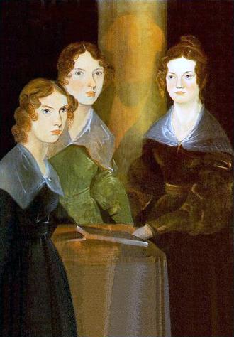 Branwell Brontë - Branwell Brontë painted himself out of this painting of his three sisters.