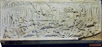 Ludi - Chariot races, as depicted on this 2nd-century relief, were among the ludi presented at Roman religious festivals