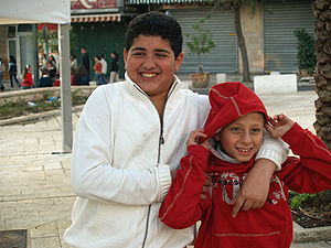 Palestinian children in Nazareth