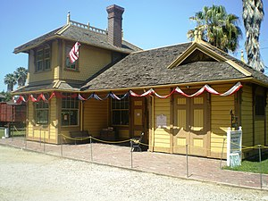 Palms station - The Palms original depot building from 1875 now at Heritage Square Museum.