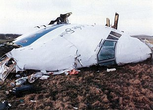 Wreckage of Pan Am Flight 103