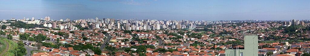 Panorama da Região Central da cidade de Campinas