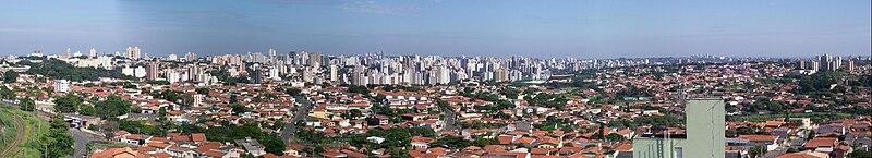 Panorama da cidade de Campinas.