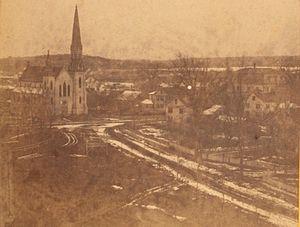 Holliston, Massachusetts - Panorama of Holliston, ca. 1875