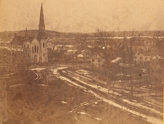 Holliston, Massachusetts - Panorama of Holliston, ca. 1875