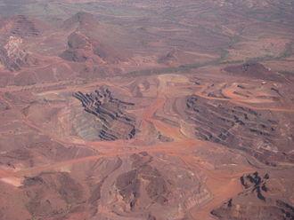 Paraburdoo mine - The Paraburdoo mine in October 2011.