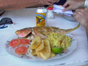 South American cuisine - Fried red snapper