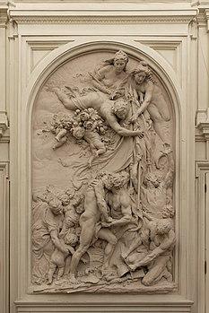 Paris, mairie du 10e arrdt, salle des mariages, La Fraternité, Aimé-Jules Dalou, 1885 01.jpg