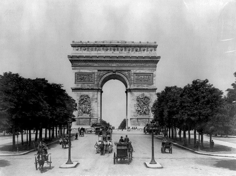 Photographies de Lieux Célèbres durant la Belle Epoque 800px-Paris_Arc_de_Triomphe_3a47493