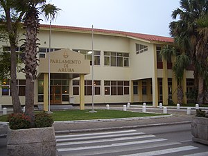 Parliament of Aruba in Oranjestad.