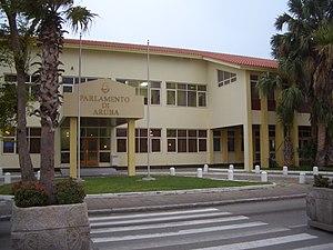 Parliament of Aruba in Oranjestad.