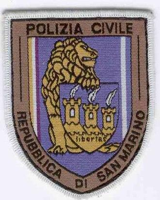 Civil Police (San Marino) - Image: Patch Polizia Civile