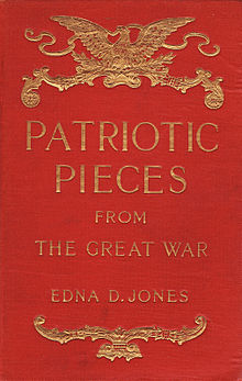 Patriotic pieces from the Great War, Jones, 1918 cover.jpg