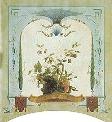 Wanddecoratie hengselmandje met fruit