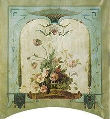 Wanddecoratie met bloemenmand