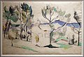 Paul cézanne, cabina da caccia tra alberi in provenza, 1887-1890 ca., lapis e acquerello.jpg