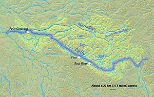 Pelly River - Image: Pellyrivermap