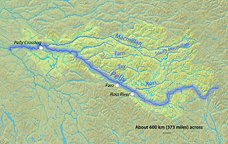 Pelly River - Image: Pellyrivermap