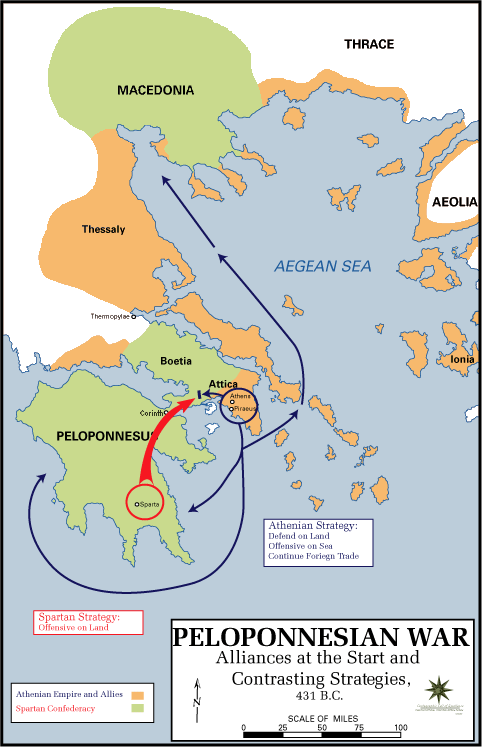 Peloponnesian war alliances 431 BC