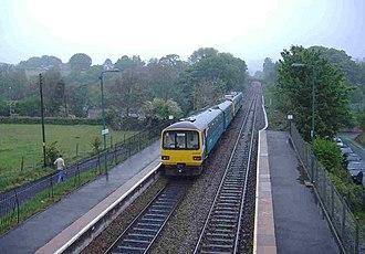 Pengam railway station - Image: Pengam railway station
