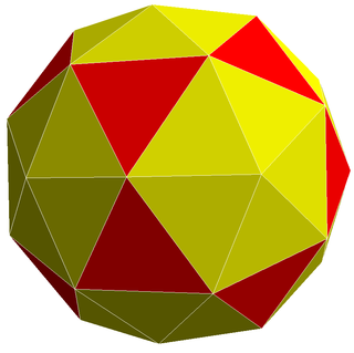 Pentakis icosidodecahedron convex polyhedron with 80 triangular faces