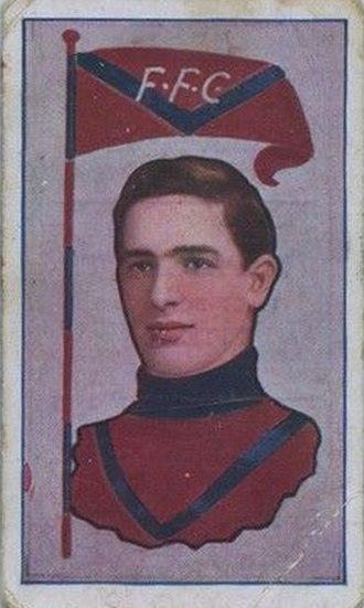Percy Parratt - Cigarette card of Parratt in 1912
