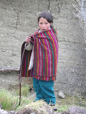 Peru, puna child
