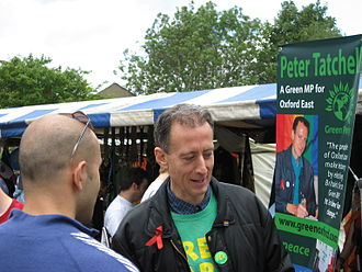 Peter Tatchell - Peter Tatchell at the Cowley Road Carnival in Oxford in July 2007
