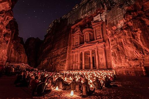 Petra Al-Kaznah by Night
