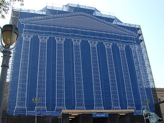Philadelphia Museum of Art - The west entrance covered during construction in 2008