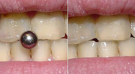 Piercing bilder frenulum Tongue Web