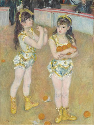 The Circus (Seurat) - Image: Pierre Auguste Renoir Acrobats at the Cirque Fernando (Francisca and Angelina Wartenberg) Google Art Project