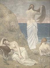 Jeunes Filles au bord de la mer