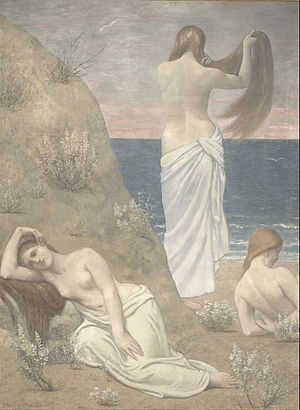 Pierre Puvis de Chavannes - Young Girls by the Seaside (1887)