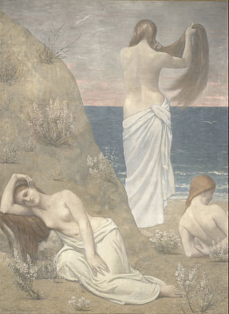 Pierre Puvis de Chavannes - Young Girls by the Seaside (1879)